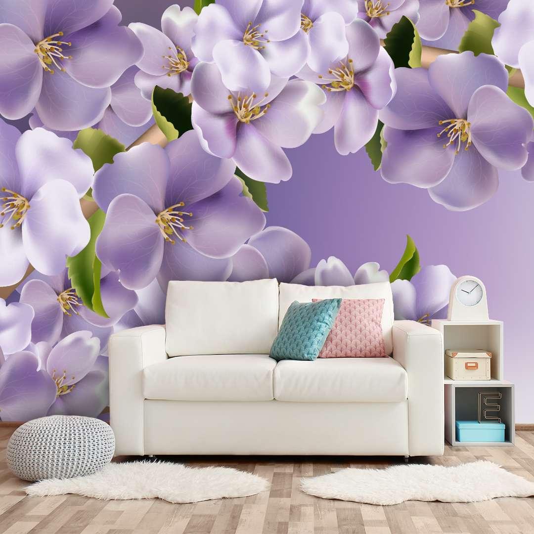 Фотообои с цветочными композициями